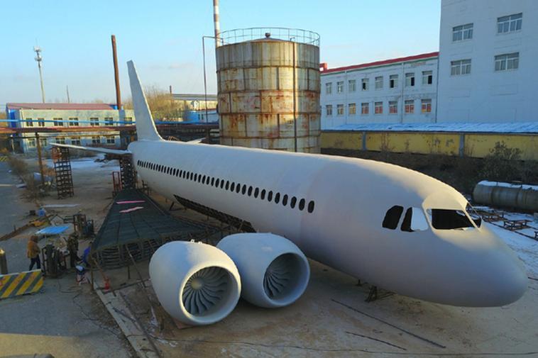 hình ảnh toàn cảnh máy bay A320 nông dân Trung Quốc tự làm